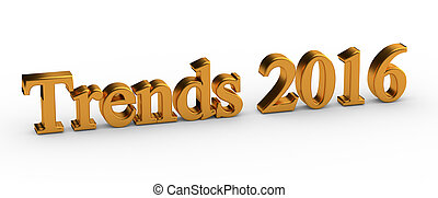 3d Trends 2016 - 3d words Trends 2016 isolated on white...