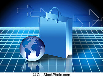 Internet shopping concept - Online shopping Concept with...