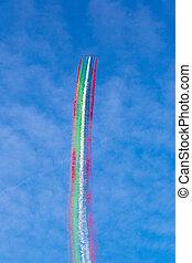 Dubai air show in a summer day, UAE