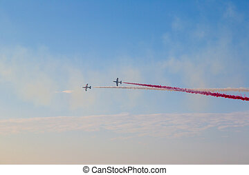 Dubai air show in a summer day, UAE