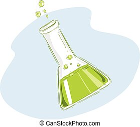 vector illustration of a Chemical test tubes