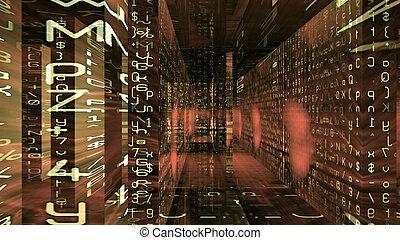 Futuristic Digital Tech Display - Futuristic digital...