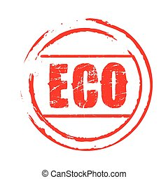 Red vector grunge stamp ECO