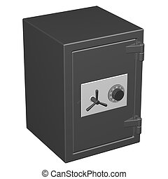 Safe box, isolated on white background 3D render