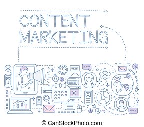 Content Marketing Infographics. Vector Illustration -...