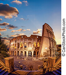 Colosseum in the evening, Rome, Italy