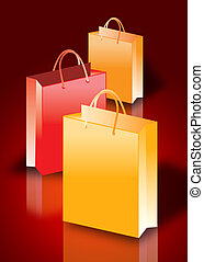 illustration of Colorful shopping bags