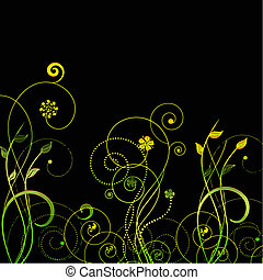 floral swirls vector - pretty swirls and flowers in vector...