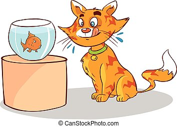 white background vector illustration of a cat facing the...