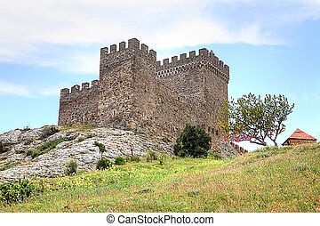 Old Genoese fortress - Tower of ancient Genoese fortress...