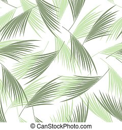 Tropical palm leaves seamless pattern. . Floral background....