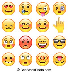 WebSet of Emoticons - Set of Emoticons. Set of Emoji....