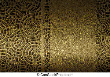 leather with embossed patten - golden texture of leather...