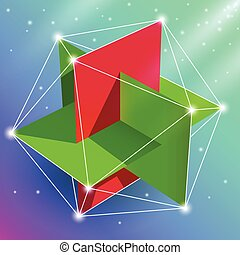 Regular icosahedron - Geometric figure regular icosahedron,...