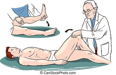 Vector illustration of a medical patient and physiotherapist...