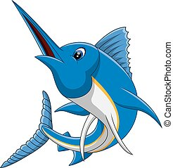 marlin fish cartoon  - illustration of marlin fish cartoon