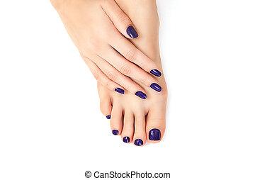 purple manicure and pedicure - purple manicure and pedicure....