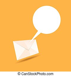 Mail Talk Bubble - Vector illustration of mail letter...