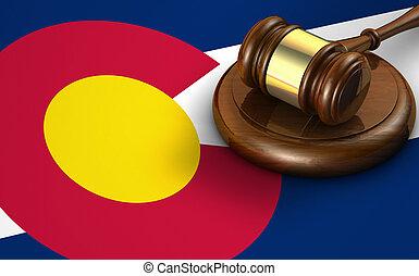 Colorado Law Legal System Concept - Colorado US state law,...