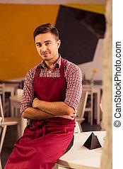 Man in restaurant