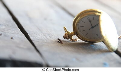 old pocket watch - time idea - vintage pocket watch on a...