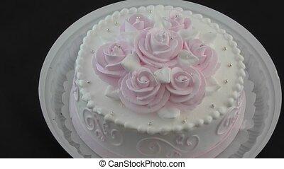 Sponge cake for dessert - Sponge cake with cream for dessert