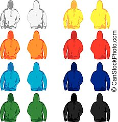 Hoodies - a set of colorful Hoodies for men