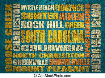 South Carolina state cities list - Image relative to USA...