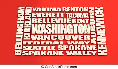 Washington state cities list - Image relative to USA travel....