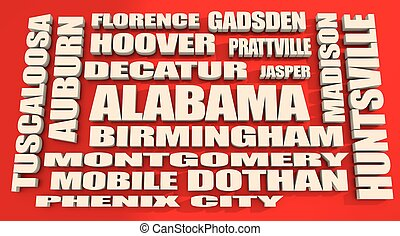 alabama state cities list - image relative to usa travel....