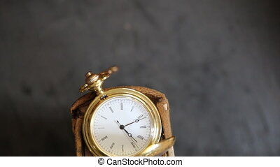 old vintage pocket watch - Vintage pocket watch, symbols of...