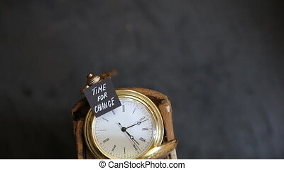 time for change idea - time for change text and vintage...