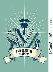 Barber Shop Poster - A vector barber shop poster design