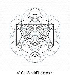 metatron outline seed of life sacred geometry - vector...