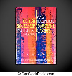 colored glitch design backdrop poster layout - vector...