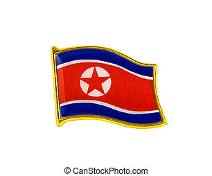 flag icon of North Korea isolated on white background