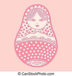 Vector illustration of russian traditional matryoshka doll