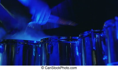 Hands drummer playing drums