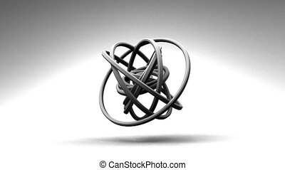White Circle Abstract - Loop Able White Circle Abstract On...