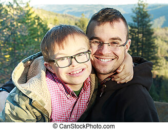 Big Brother and Little Brother with Downs Syndrome