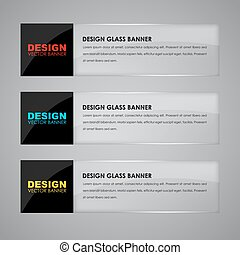 Design glass banners with text - Design glass banners with...