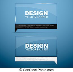 Design glass banners with text - Design banners glass with...
