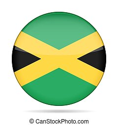 button with flag of Jamaica