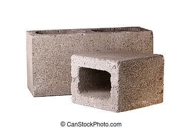 Bricks from concrete - Bricks made of concrete for building...