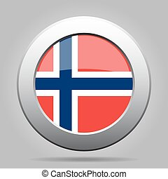 metal button with flag of Norway