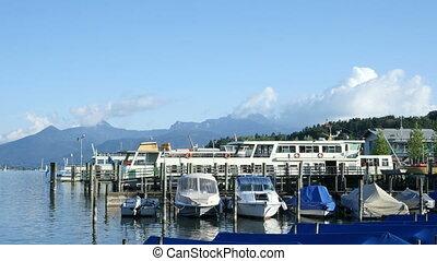 4K UHD Timelapse Boats at Jetty Landscape - 4K UHD Timelapse...