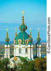 Andriyivska Church, Kiev, Ukraine - Saint Andrews church in...