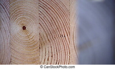 View on surface of laminated veneer lumber, close-up