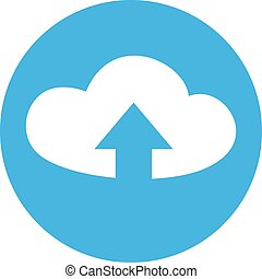 flat upload cloud icon