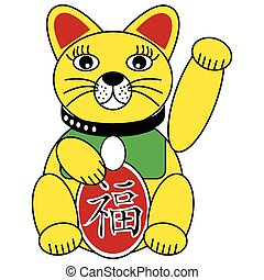 Chinese good fortune and luck cat